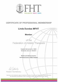 FHT Member Cert